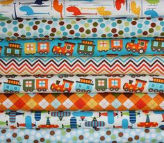 love this fabric for a little boy!