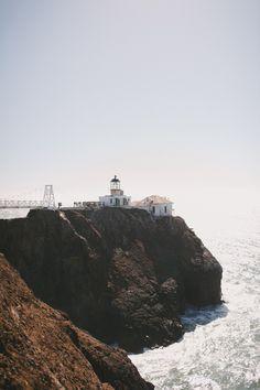 Point Bonita Lighthouse in Northern California.  John + Louise Photography.