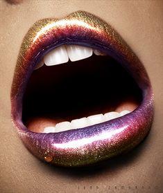 shiny colorful lips