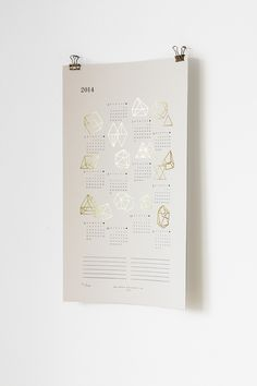 Gold Foil Prisms Calendar | Julia Kostreva Creative Studio (studio.juliakostreva.com)