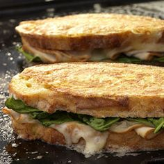 Monte Cristo Sandwiches with Smoked Turkey and Spinach