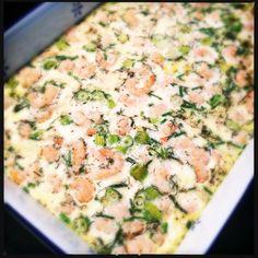 Ei uit de oven met garnalen en kruiden_2