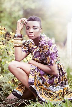 Love her stylish look with #TWA #naturalhairstyle  Loved By NenoNatural!
