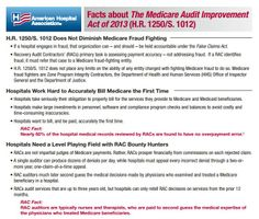 Facts About The Medicare Audit Improvement Act of 2013