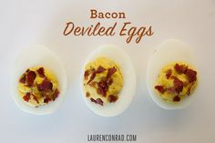 Bacon Deviled Eggs - LaurenConrad.com