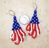 Fun 4th of July Beaded Earrings Tutorials