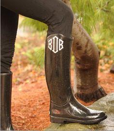 every girl needs some monogrammed rainboots