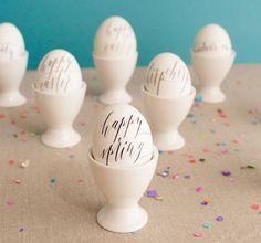 Calligraphed eggs — LOVE! | 40 Creative Easter Eggs
