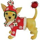 Aye Chihuahua Festive Sweater Christmas Ornament Westland Dog Decoration 13767 - http://cutefigurines.net/aye-chihuahua/aye-chihuahua-festive-sweater-christmas-ornament-westland-dog-decoration-13767-2/
