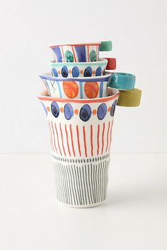 Dotted Path Measuring Cups #anthropologie