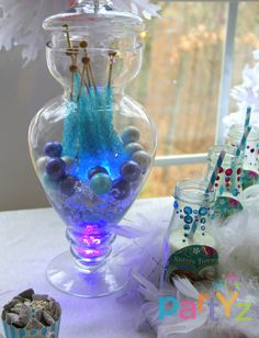 glow sticks, disneys frozen birthday party, disney frozen birthday decor, birthday parties, rock candi