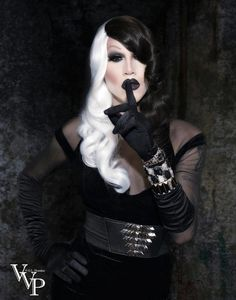 Totally inspired by RuPaul's drag race winner Sharon Needles. She is so totally unique and has created a niche in drag. Love!
