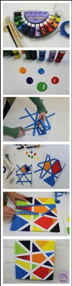 Easy, fun canvas art!