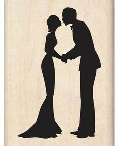Silhouette Kiss - Rubber Stamps silhouett kiss, idea, craft, cake bag, silhouettes, stamps, cross stitch patterns, cross stitches, kisses
