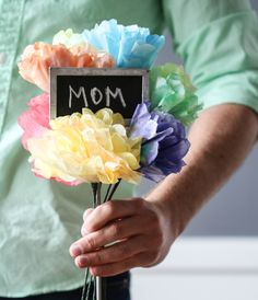 Best Quality Unrivaled Personalized Gifts at Red Envelope via http://www.AmericasMall.com/redenvelope-gifts painted coffee filter flowers - RedEnvelope Blog #redenvelope #gifts #personalizedgifts