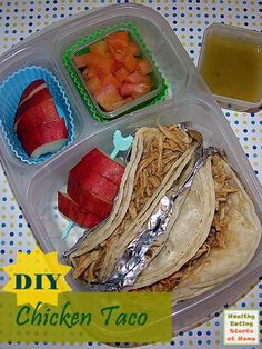 DIY #pack Chicken Tacos for #lunch