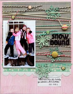 #Scrapbook page cool use of twine
