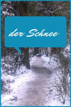 German snow words an