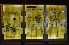 Purdue University All American Wall Fused and silk screened using Bullseye Glass. Design by GRT Glass Design c