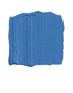 """BENJAMIN MOORE PADDINGTON BLUE 791: """"This is a peacock blue, a very happy, exuberant blue that would set off all the objects in a room. I'd use it in a high-gloss finish with lots of white moldings, and maybe pull in marigold or puce. Blue is one of the best colors around for crispness and contrast. After all, what looks better than a naval officer in his dress blues?"""" -Robin Bell"""