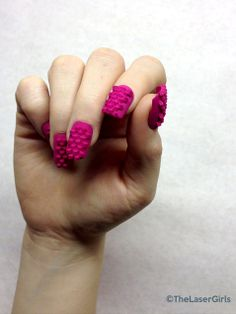 How 3-D Printing Is Taking Nail Art to (Kind of Scary) New Lengths. WOAH! http://www.ivillage.com/nail-art-goes-3-d-laser-printing/5-a-559155