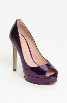Dark Purple Patent Pumps