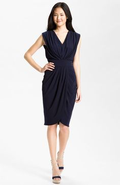 Suzi Chin for Maggy Boutique Double-V Draped Jersey Dress | Nordstrom