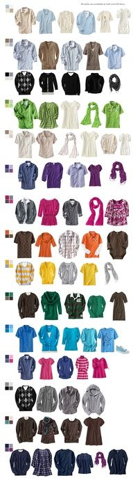 Ideas for coordinating clothing as a family
