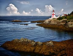 "East Quoddy Lighthouse by Kathy Weaver  The East Quoddy lighthouse or the ""Head Harbour Lighthouse"" stands on the eastern tip of Campobello Island, New Brunswick, Canada."