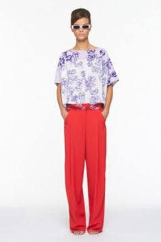 DVF | Landy Top In Meadow Stripe Red, Spring 2012: Beginnings