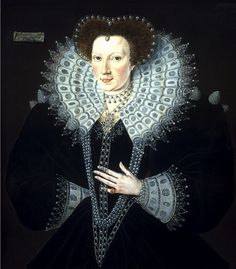 Frances Walsingham (1567-1633) Daughter of Elizabeth's spymaster, Sir Francis.  Married Sir Philip Sidney, and after his death in battle, married the Earl of Essex (a cousin of the queen). After the earl's execution, she married the Earl of St. Albans and Clanricarde. One of her daughters by Essex married the duke of Somerset, a descendant of Mary Rose Tudor through the Grey family.