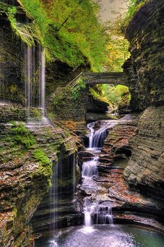 Blue Pueblo, Watkins Glen State Park, New York  photo via...