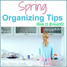 22 organizing bloggers share their best organizing, scheduling & cleaning tips for you!