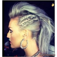 beautiful gray ponytail hairstyle with side braids - 99 Hairstyles Ideas