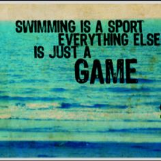 Basketball GAME. Baseball GAME. Football GAME. Soccer GAME. Swim MEET..... My point exactly ;)