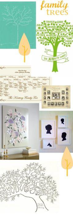 DIY + handmade family tree ideas