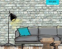 Brick stone removable wallpaper on pinterest brick for Opus wallpaper range