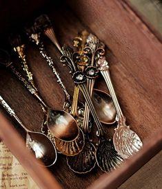 old silverware, teas, spoon rings, tea gifts, silver spoons, afternoon tea, antique silver, vintage tea, antiques