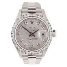 ROLEX Lady's Datejust Diamond Wristwatch Ref. 79136 - 1st dibs