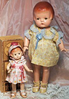 """~ Composition Dolls """"Patsyette"""" & """"Patsy Joan"""" By Effanbee ~"""