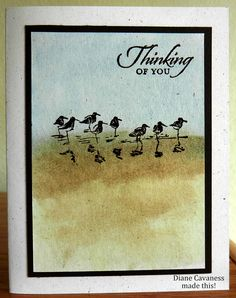 Stampin Up Wetlands. great use of this stamp.