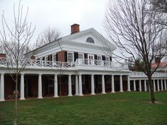The original campus of the University of Virginia was designed by Thomas Jefferson.