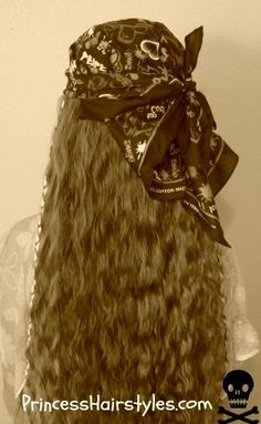 Halloween hair tutorial, pirate