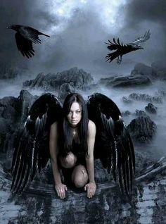 Dark Gothic Fallen Angel....mean AZaz