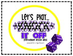 Knock It Off- free downloadable game to practice multiplication facts 1 -12