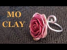 Polymer clay ring; very simple to create rose using clay, watch this tutorial clays, arcilla polimérica tutorial, polymerclay, diy polym, ring tutori, rose ring, diy clay roses, polym clay, polymer clay