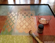 How to Create a custom stenciled art canvas.