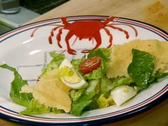 Caesar Salad with Parmesan Crisps