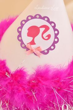 Barbie Themed 7th Birthday Party. Cute for an invitation.