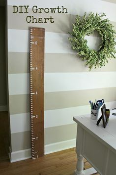 DIY wooden growth chart.